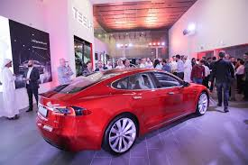 tesla dealership tesla opens first showroom in dubai retail uae arabianbusiness com
