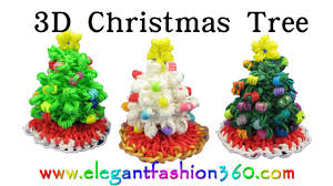 rainbow loom christmas tree 3d and skirt charm holiday ornaments