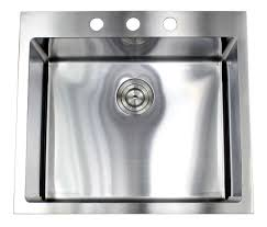 top mount stainless steel sink 25 inch drop in top mount stainless steel single bowl kitchen