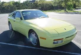 1987 porsche 944 turbo for sale summer yellow 1987 porsche 944 turbo bring a trailer