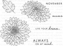 Picture Of Mums The Flowers - year of flowers mums stamp set papertrey ink clear stamps dies
