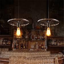 Wrought Iron Mini Pendant Lights Vintage Black Brown Pendant Lights Industrial Wrought Iron Led