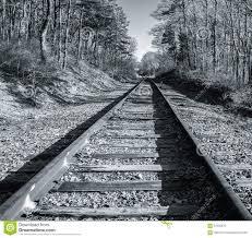 silver tone vintage rail line on cape cod stock photo image