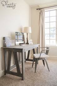 Desk Diy Plans Simple Desk Plans For Home Offices Built With