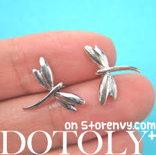 store stud earrings dotoly plus classic dragonfly insect animal stud earrings