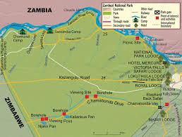 Zimbabwe Map Victoria Falls Zambezi National Park Zimbabwe