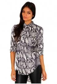 snake print blouse snake skin print oversized blouse top missguided