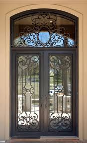 front doors awesome iron and glass front door 137 iron and glass