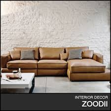 Cow Leather Sofa Modern Italian Top Grain Cowleather Sectional For Home
