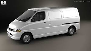 toyota vans toyota hiace panel van 1995 by 3d model store humster3d com youtube