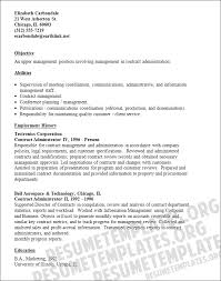 contract administration sample resume top 8 construction contract