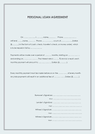 Examples Of Custody Agreements 40 Free Loan Agreement Templates Word U0026 Pdf Template Lab