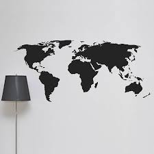 United States Map Wall Decal by World Map Wall Sticker By Leonora Hammond Notonthehighstreet Com