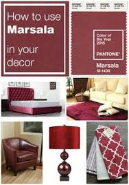 decorating with marsala the pantone color of the year accent