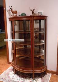 Antique Corner Curio Cabinet Furniture Outstanding Corner Curio Cabinets In Living Room Plus