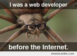 Web Memes - i was a web developer before the internet by ben meme center
