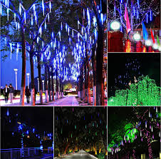 led meteor shower tube lights dropship 20cm led waterproof meteor shower string light rain tube