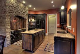 Rustic Hickory Kitchen Cabinets Knotty Alder Kitchen Cabinets Rustic Log Home Impressive