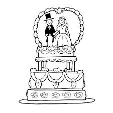 dessin mariage coloriage gâteau mariage a imprimer gratuit enfants