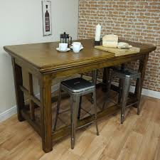 Oak Kitchen Island Units Antique Tall Solid Oak Table Ideal Kitchen Island Unit With