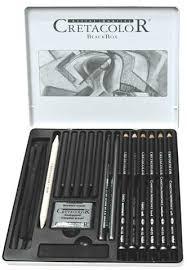 black box drawing set by cretacolor raw materials art supplies