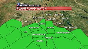 Austin Flood Map by Flash Flood Watch In Effect For Many In The Brazos Valley