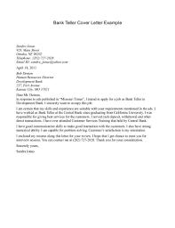It Example Resume by Teller Cover Letter Bank Teller Cover Letter New Grad Entry Level