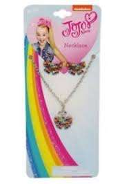 jojo s earrings jojo siwa necklace and earrings set rainbow rhinestone bows easter