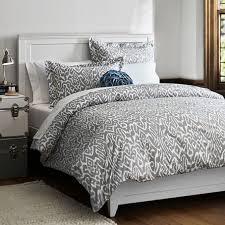 patterned grey dorm room bedding on the hunt
