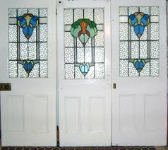 victorian glass door panels tree stained glass door panels by unknown designer and manufacturer