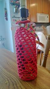 wine bottle cozy free crochet cozy and bottle