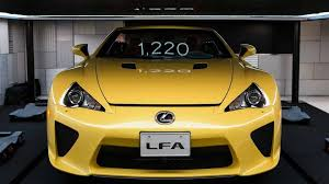 lexus yellow lexus lfa roadster makes a surprise appearance in tokyo