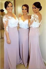 lavender bridesmaids dresses white lace appliques cheap 2017 bridesmaid dresses sleeved light