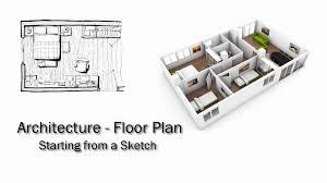 autocad bedroom floor plan youtube
