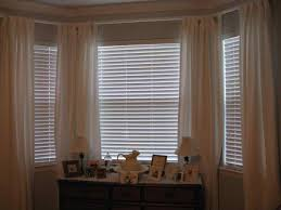 Checkered Curtains by Blinds On Bay Window Decor Window Ideas