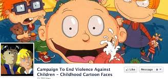 cartoon characters fight child abuse facebook