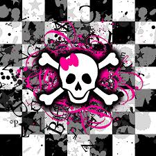 pastel goth halloween background 993 skulls with pink and green bows iphone wallpaper gif 320 480