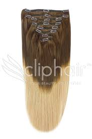ombre clip in hair extensions 18 inch weft ombre hair extensions in brown shade