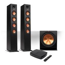 jl audio subwoofer home theater amazon com klipsch wireless hd 2 1 floorstanding system with 10