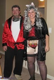 Hugh Hefner Playboy Bunny Halloween Costume Hef Gray Hare Funny Couples Costume