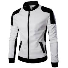 leather motorcycle clothing popular white jacket leather men buy cheap white jacket leather