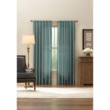 home decorators collection com home decorators collection sheer aqua faux silk lined back tab