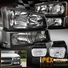 2003 chevy silverado fog lights 2003 2006 chevy silverado 1500 2500hd 3500 black headlight signals