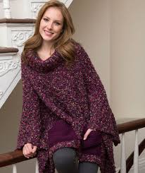 Red Heart Comfort Yarn Patterns Pocket Poncho Free Knitting Pattern From Red Heart Yarns New