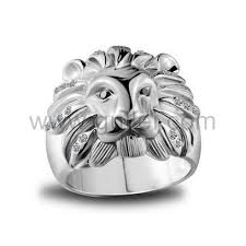 personalized engraved rings personalized engraved lion mens silver fashion ring