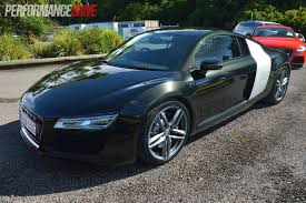 audi r8 blacked out 2013 audi r8 v8 review quick spin performancedrive