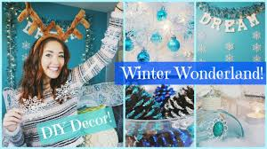 diy winter wonderland christmas room decor inexpensive easy