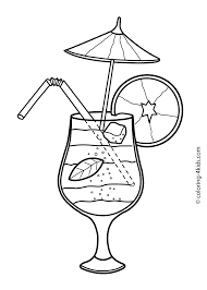 cocktail cartoon summer cocktail coloring pages for kids free printable