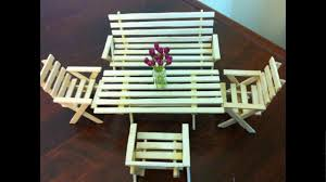 ice cream table and chairs ice cream sticks furniture youtube