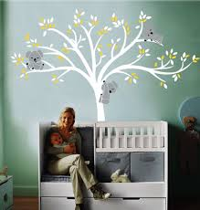 compare prices on wall decals tree online shopping buy low price a010 large koala tree wall decals for baby nursery vinyl wall decor stickers 86 5